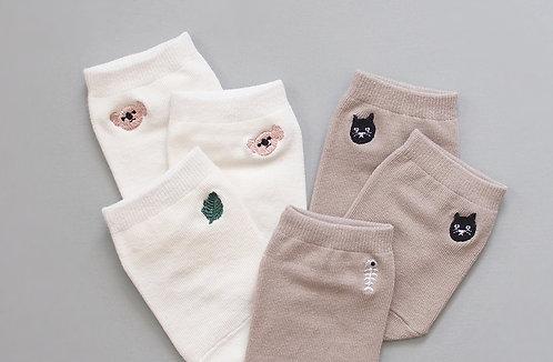 Socken im 2,5er-Pack - Koala & Katze