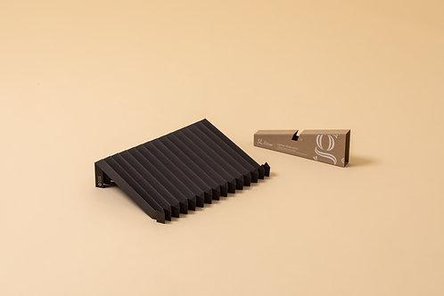"45g Laptopständer aus pH-neutralem Recyclingpapier ""g.flow"" schwarz"