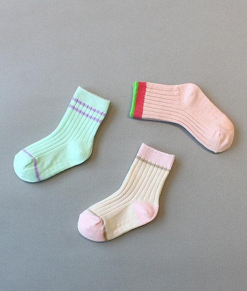 Set of 3 Ankle Socks - Je t'aime