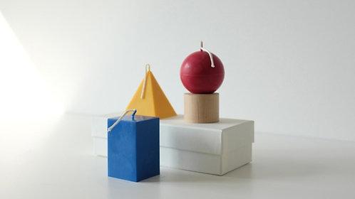 """Geschenkbox mit Duftkerzen """"Bauhaus Trio"""" aus Sojawachs"""