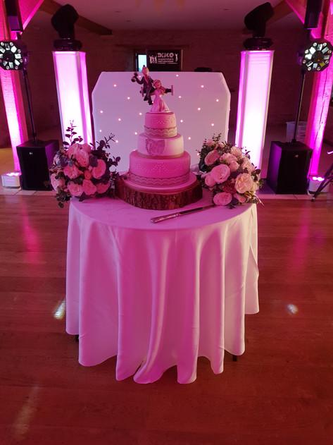 Kim & Tony's cake (Kingscot Barn)