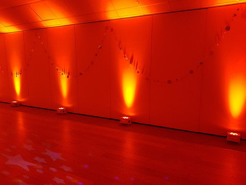 Orange uplights (Mood lights)