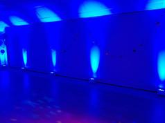 Dark Blue uplights (Mood lights)