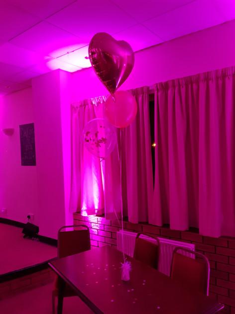 Pink Uplit balloons