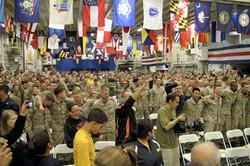 USS Wasp Crowd