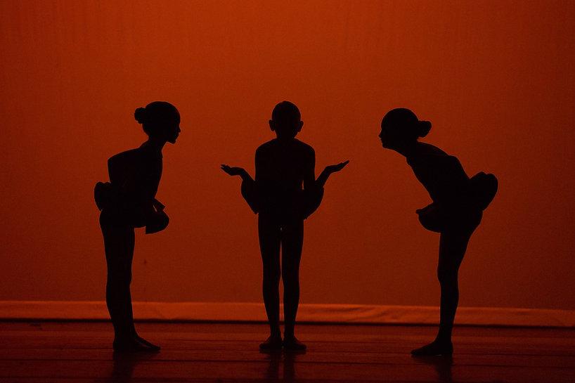 Trio in silhouette