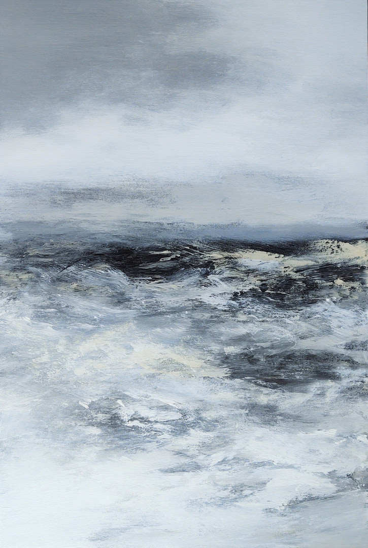 Cooney, Stormy sea2, Acrylic on canvas,