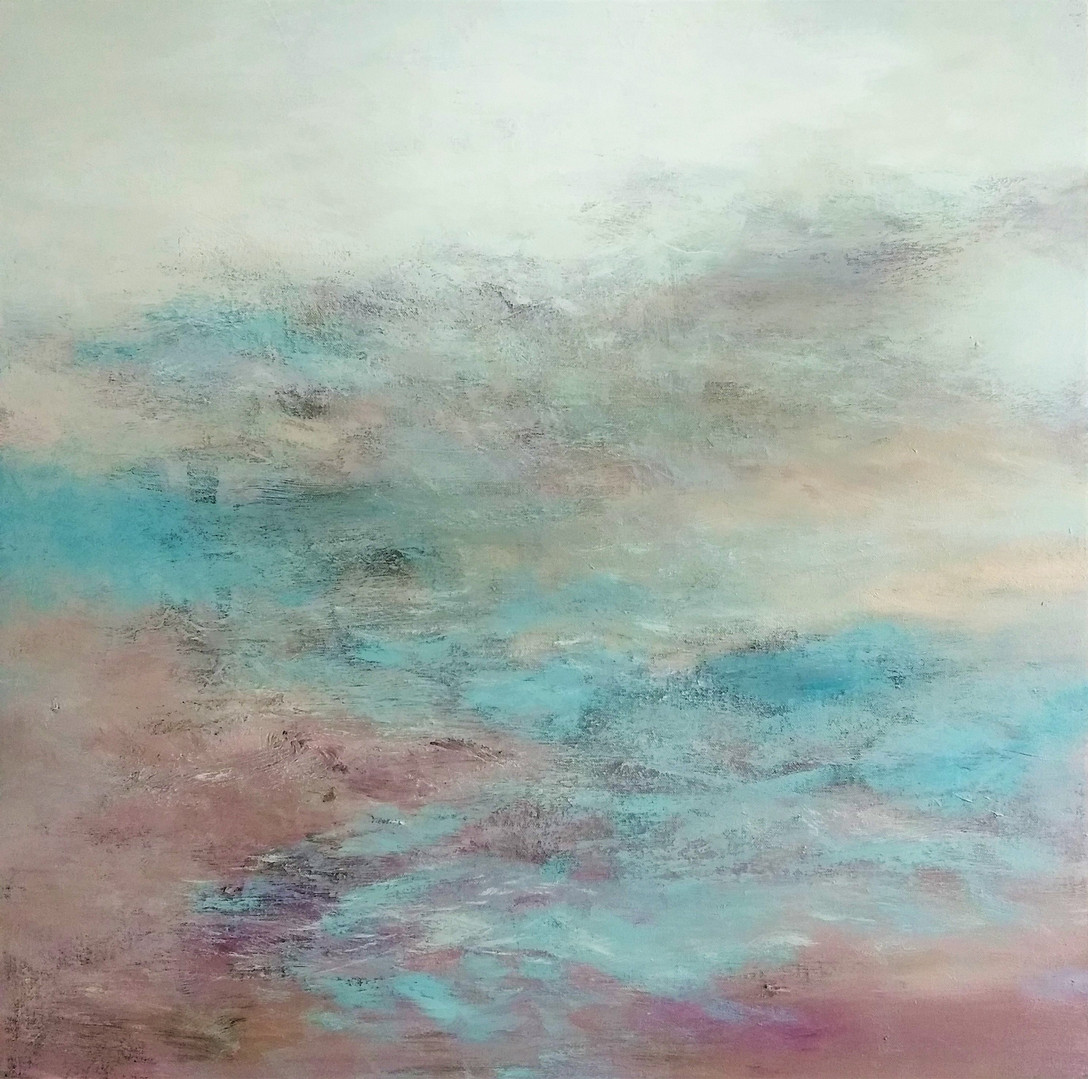 Cooney,Abstract ocean1, Acrylic on canva