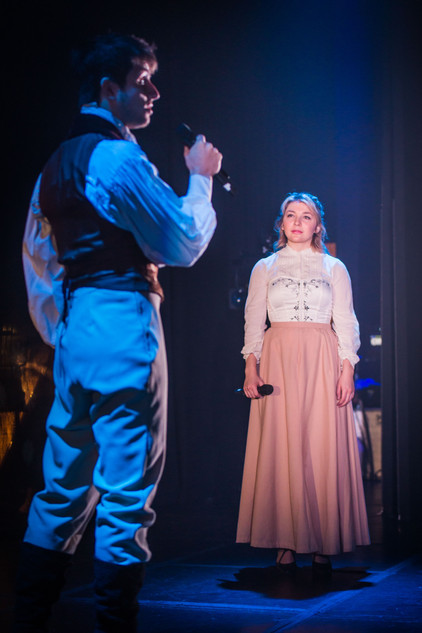 Will de Renzy-Martin (as Luca) and Erica Nicole Rothman (as Elena), Mascherato Workshop 2017