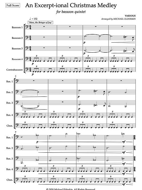 An Excerpt-ional Christmas Medley (Bassoon Quintet)