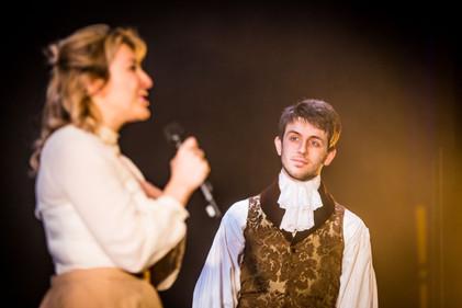 Erica Nicole Rothman (as Elena) and Will de Renzy-Martin (as Luca), Mascherato Workshop 2017