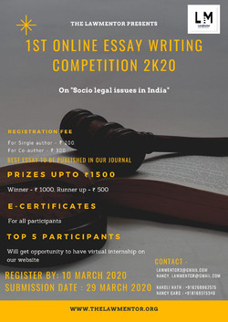1st Essay Writing Competition
