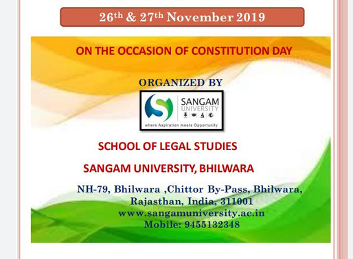 NATIONAL SEMINAR ON UNIFORM CIVIL CODE IN INDIA:POSITION IN CURRENT DECADE AT SANGAM UNIVERSITY