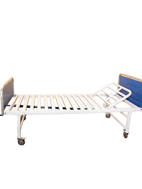 SINGLE CRANK HOSPITAL BED WITHOUT MATTRESS
