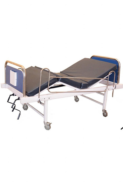 DOUBLE CRANK HOSPITAL BED WITH MATTRESS