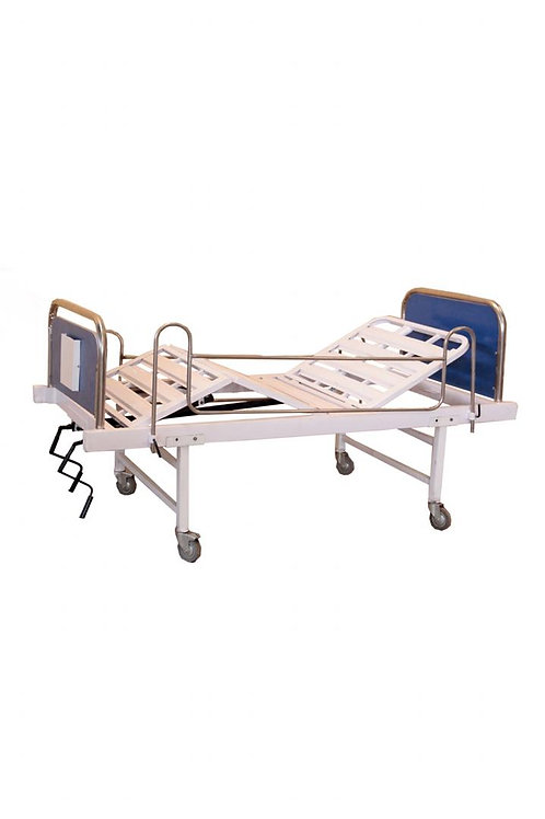 DOUBLE CRANK HOSPITAL BED WITHOUT MATTRESS