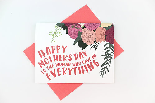 WOMAN WHO GAVE ME EVERYTHING | CARD | WHOLESALE