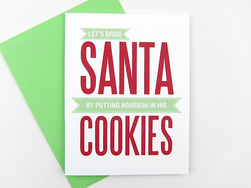 LET'S BRIBE SANTA | CARD | WHOLESALE