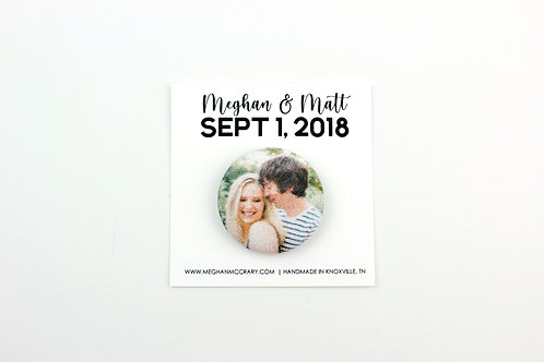 CUSTOM PHOTO | WEDDING FAVOR MAGNET