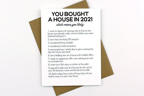 NEW HOUSE 2021   CARD