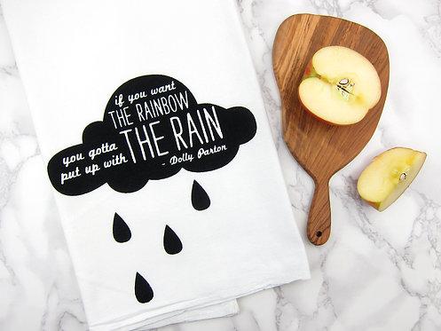 RAIN QUOTE | KITCHEN TOWEL