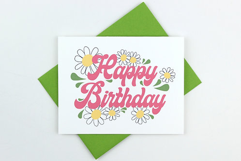 DAISY BIRTHDAY  | CARD | WHOLESALE