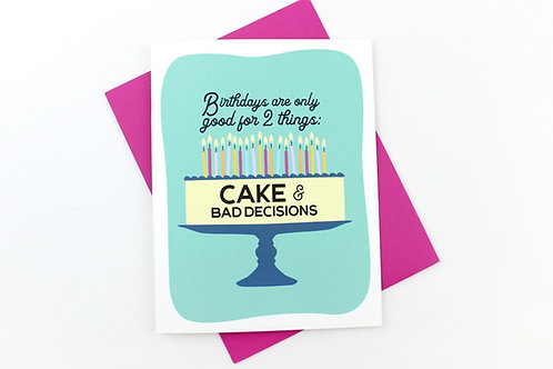 CAKE AND BAD DECISIONS | CARD | WHOLESALE