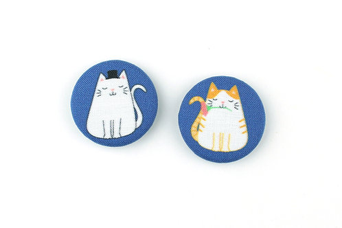 LIMITED EDITION CATS | SET OF 2 MAGNETS | READY TO SHIP
