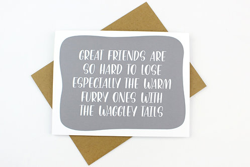 WAGGLEY TAIL | CARD