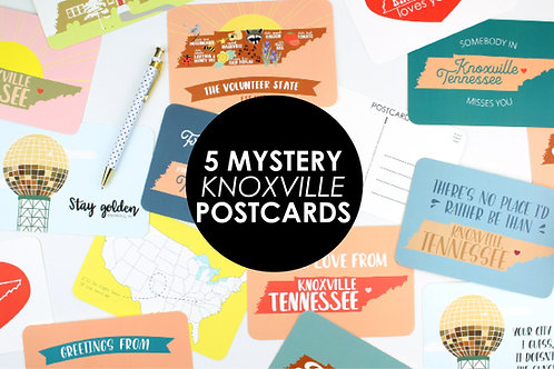 5 MYSTERY KNOXVILLE POSTCARDS | SAVE 20%