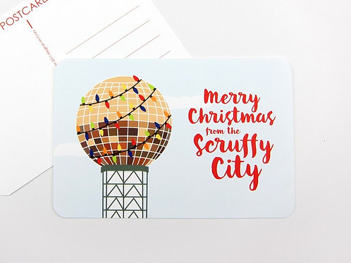 MERRY CHRISTMAS FROM THE SCRUFFY CITY | SET OF 3 OR MORE POSTCARDS
