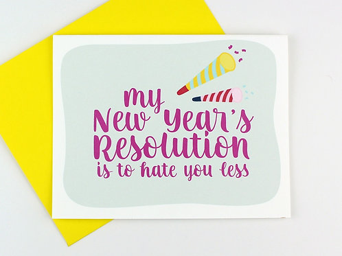 NEW YEAR'S RESOLUTION | CARD