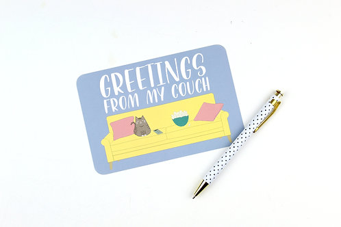 GREETINGS FROM MY COUCH CAT | SET OF 3 OR MORE POSTCARDS