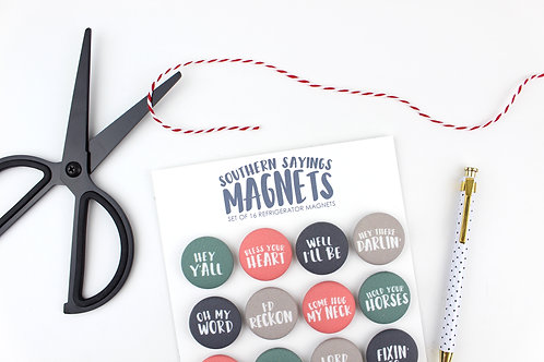 SOUTHERN SAYINGS | SET OF 16 MAGNETS