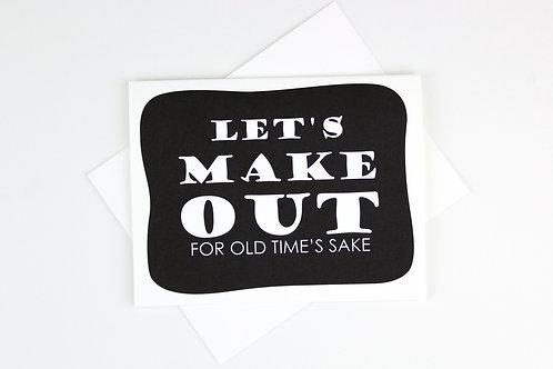 OLD TIME'S SAKE | CARD