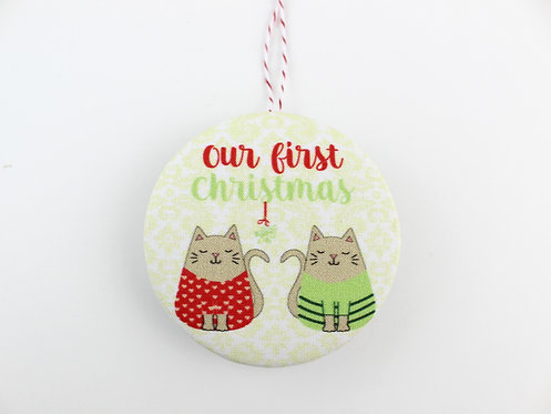 OUR FIRST CHRISTMAS - CATS | ORNAMENT