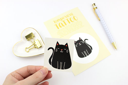 FAT CAT BLACK | TEMPORARY TATTOO | WHOLESALE