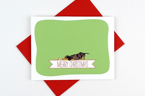 DACHSHUND WITH BELL | CARD