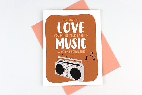 TASTE IN MUSIC | CARD