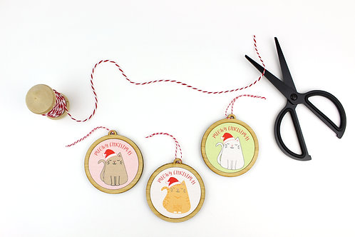 CUSTOM MEOWY CHRISTMAS | ORNAMENT | SHIPS IN 2 WEEKS