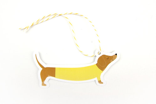 DACHSHUND IN A SWEATER | SET OF 10 GIFT TAGS