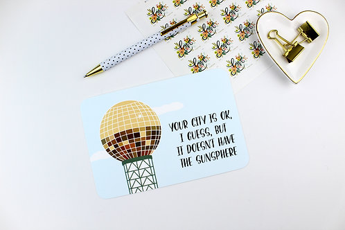 YOUR CITY DOESN'T HAVE THE SUNSPHERE | POSTCARDS | WHOLESALE