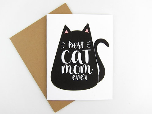 BEST CAT MOM EVER | CARD | WHOLESALE