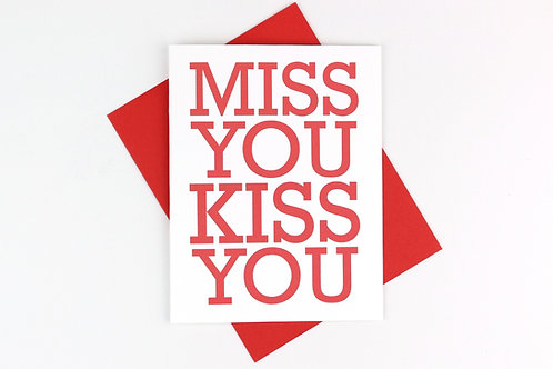 MISS YOU KISS YOU | CARD
