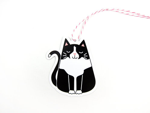TUXEDO CAT | SET OF 10 GIFT TAGS | WHOLESALE