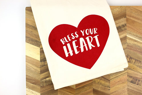 SLIGHTLY IMPERFECT BLESS YOUR HEART | KITCHEN TOWEL