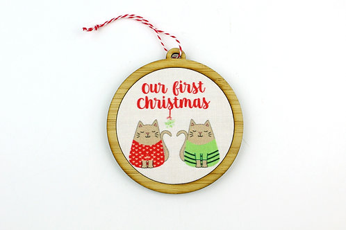 OUR FIRST CHRISTMAS (CATS) | ORNAMENT