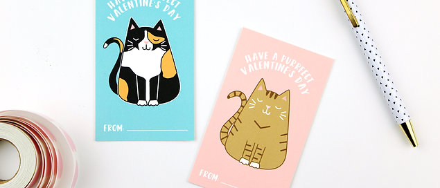 HAVE A PURRFECT VALENTINE'S DAY | BOXED SET OF CARDS