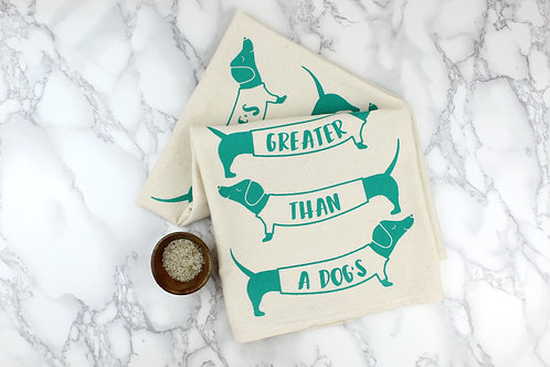 NO LOVE GREATER THAN A DOG'S   KITCHEN TOWEL   WHOLESALE