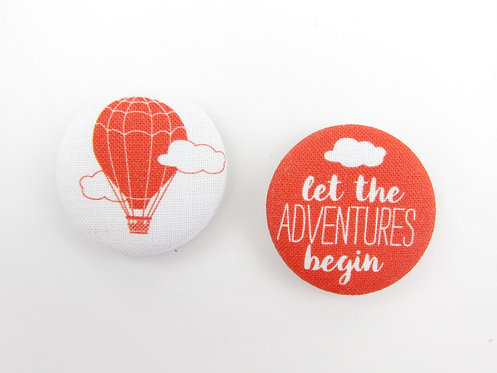 LET THE ADVENTURES BEGIN | SET OF 2 MAGNETS | WHOLESALE